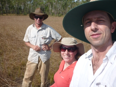 Mick, Allyson and Ian in the field